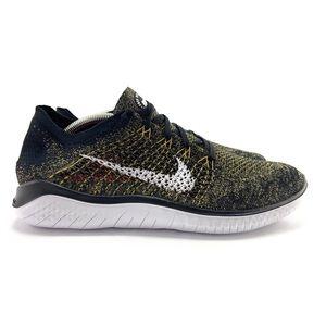 Nike Mens Free RN Flyknit 2018 Black Running Shoes